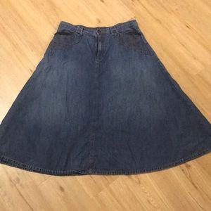 Denim skirt by Lauren Jeans Co. size 12